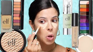 I TRIED A FULL FACE OF NEW ELF MAKEUP   ELF just went off.