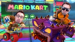 Mario Kart 8 - Losing Friends, One Blue Shell At A Time! (First Time Playing 200cc)