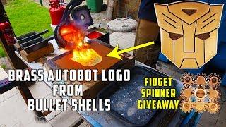 Casting Brass Transformers Autobots Logo + Fidget Spinner Giveaway !