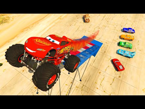 McQueen Monster Truck and Friends Cars Cruz Ramirez The King Chick Hicks - Videos for kids & Songs