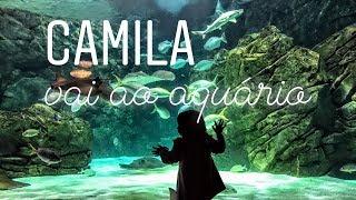 Camila vai ao aquário
