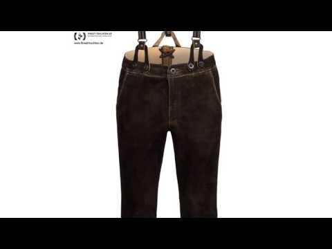 Finest-Trachten.de: Lange Lederhose in Braun von Almsach