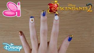 Descendants 2 | Evies Nail Art Tutorial 💅 | Disney Channel UK