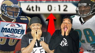 DOWN TO THE WIRE! WHY HE SO ANGRY?! - Madden 01 Gameplay   #ThrowbackThursday