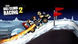 HILL CLIMB RACING 2 АВТОБУС против ЛУНЫ ивент УСПЕТЬ за 2 МИНУТЫ. ВИДЕО ИГРА ПРО МАШИНКИ kids games