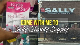 Nail Vlog Come with me to Sally Beauty Supply - LongHairPrettyNails
