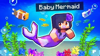Playing Minecraft As A Helpful BABY MERMAID!