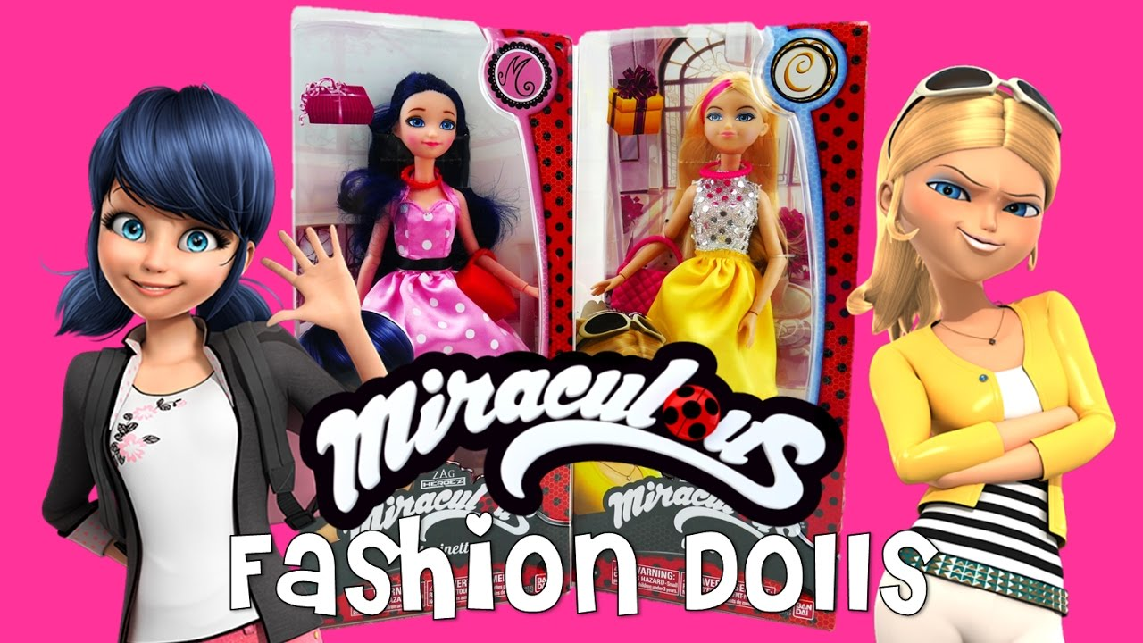 New Miraculous Ladybug Fashion Dolls Marinette and Chloe Summer Dress | Evies Toy House