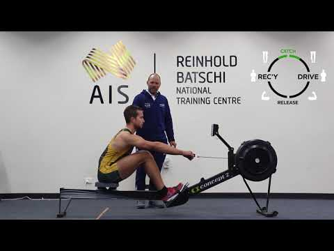How to row a Concept 2 in Australian