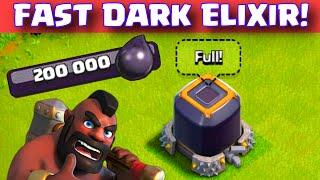 Clash of Clans HOW TO GET DARK ELIXIR FAST TH7/8/9/10 Easy Dark Elixir Farming