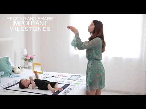 Фотопеленка / фотофон 12 месяцев для первых фотосессий малыша Baby Pictures крылья (ВР-21427) Video #1