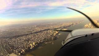 Fantastic Flight over Newark Liberty International Airport to Freedom Tower, New York City