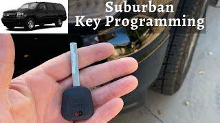 How To Program A Chevy Suburban Key 2007 - 2014 DIY Chevrolet Transponder Ignition