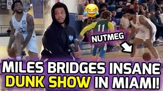 Miles Bridges Shows INSANE DUNK PACKAGE At Miami Pro League! Josh Jackson Pulls Up & Gets SHIFTY! 😱