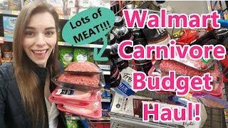 KETO: Carnivore Shopping Haul on a Budget at Walmart!