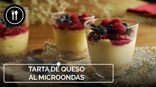 Cómo hacer tarta de queso al microondas
