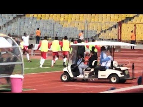 فرحة جنونية للاعبي المنتخب الكيني عقب إحراز هدف التعادل في مرمى الشناوي