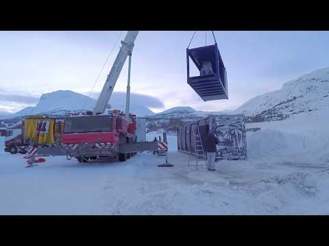 Krampitz Tanksystem GmbH Doku Aufstellung Universal Tankcontainer in Norwegen