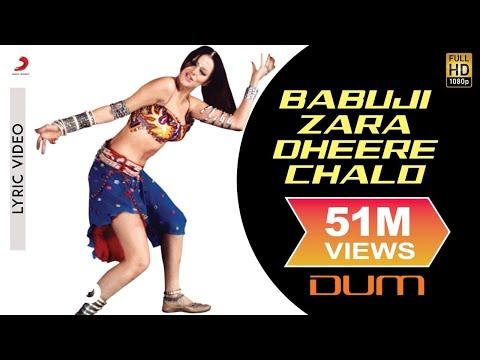 Babuji Zara Dheere Chalo Lyric Video - Dum|Vivek Oberoi|Sukhwinder Singh, Sonu Kakkar
