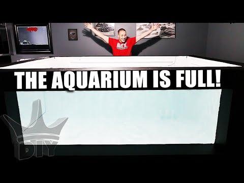 MY HUGE AQUARIUM IS FULL OF WATER!!!
