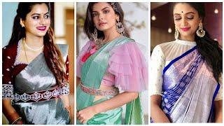 60+ Latest Pattu Saree Blouse Design Catalogue Of 2020 // New Pattu Saree Blouse Designs 2020