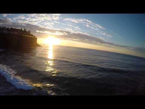 Surfing Bilgola Beach