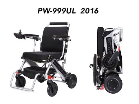 Wheelchair88 . PW-999UL . Lightest Foldable Power Chair in the world with Latest 2016 Version.