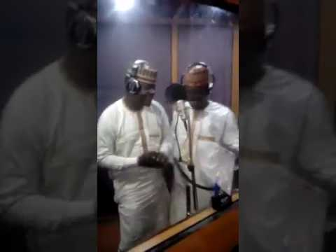 Sanu da sauka Baba Buhari. By Rarara in the studio