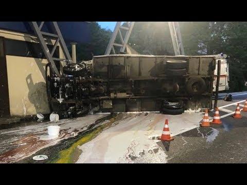 В Сочи на Мамайском перевале, погиб водитель грузовика