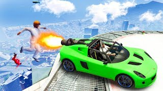 GET LAUNCHED OFF THE TALLEST BUILDING! (GTA 5 Funny Moments)