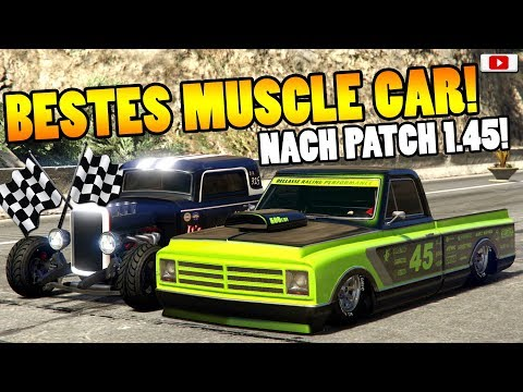 🏁🧐Bestes MUSCLE CAR Nach Patch 1.45!🧐🏁Speed+Race Test! [GTA 5 Online After Hours Update DLC]