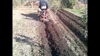 Kubota B6000 plowing