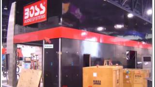 Two Story Custom Trade Show Exhibition Booth Design Orange County California - Boss