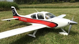 Bryan Ripping With His Great Planes Cirrus SR22T RC Plane At Camano