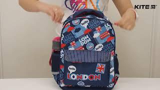 """Рюкзак подростковый Kite Junior K18-831M от компании Интернет-магазин """"Радуга"""" - школьные рюкзаки, канцтовары, творчество - видео"""