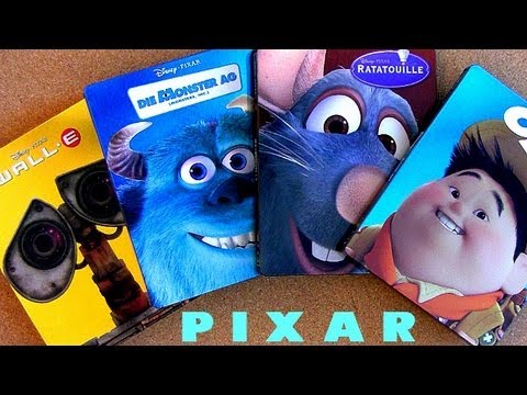 7 Pixar Blu Ray Steelbooks Collection