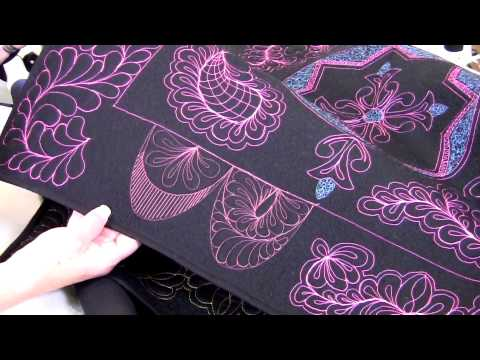 Handi Quilter shows how to use HQ Swag Template Set