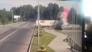 Фура протаранила стелу на въезде в Новокузнецк