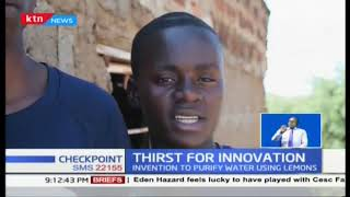 Two high school students from Busia invent way to purify water using lemons