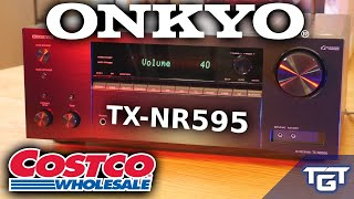 THE BEST ATMOS RECEIVER FOR $400? | Onkyo TX-NR595 REVIEW | BUDGET DOLBY DTS:X 5.2.2 FROM COSTCO!