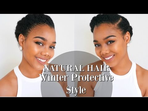 TUTORIAL | Winter Protective Style for NATURAL HAIR and TRANSITIONING HAIR