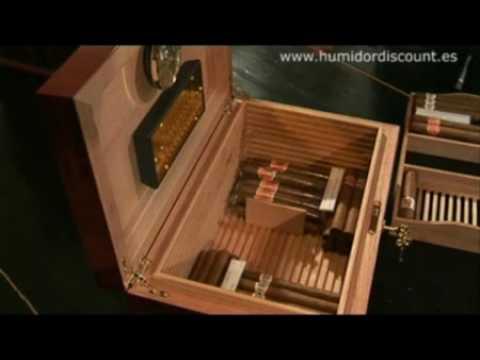 3 ES Humidificador Adorini Cigarro Puro Humidor Guía Video