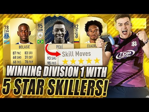 WINNING DIVISION 1 WITH A FULL 5 STAR SKILL TEAM ON FIFA 18 ULTIMATE TEAM!!