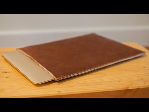 Making a Leather Laptop Sleeve