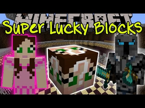 Minecraft: GAMINGWITHJEN SUPER LUCKY BLOCK CHALLENGE GAMES - Lucky Block Mod - Modded Mini-Game