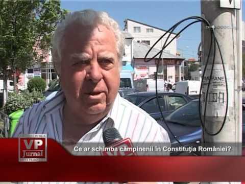 Ce ar schimba câmpinenii în Constituţia României?