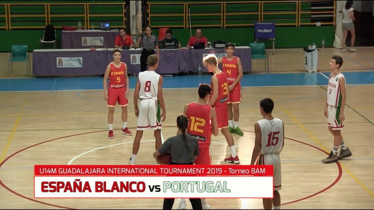 U14M -  ESPAÑA Blanco Vs. PORTUGAL.- Torneo Internacional Infantil Masc. BAM 2019 (BasketCantera.TV)