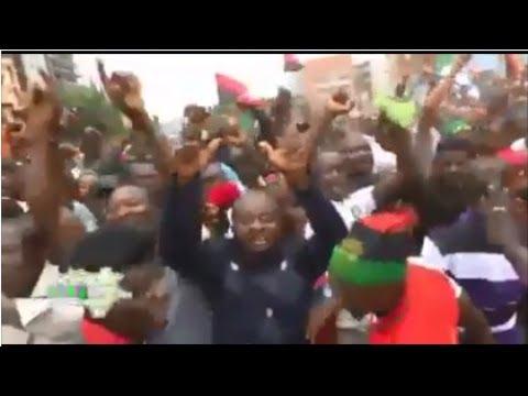 Biafrans Almost Shut Down Abuja (Osinbajo Will Not Like This At All)
