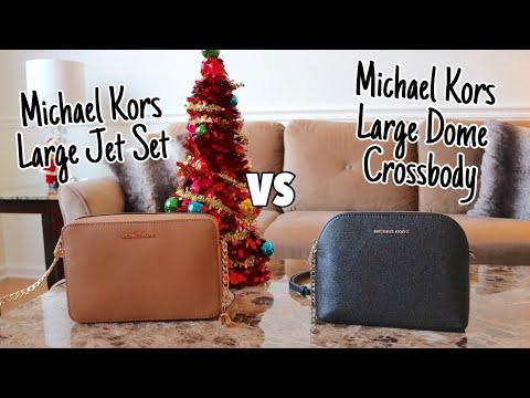Michael Kors Large Jet Set Bag VS Michael Kors Large Dome Crossbody Bag