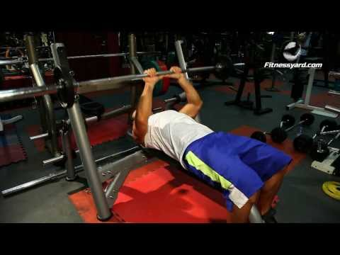 Triceps Exercises -- Barbell Close Grip Bench Press
